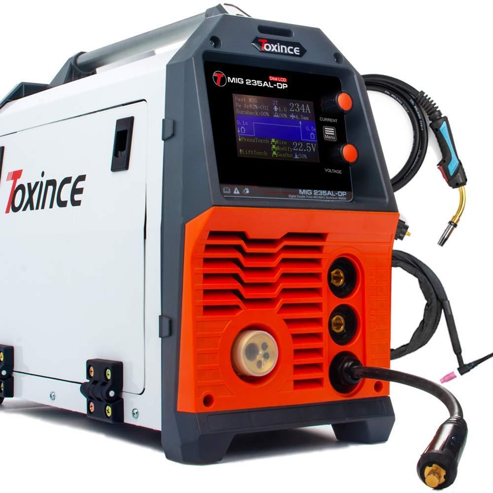 Toxince MIG235AL-DP Digital Double Pulse Aluminum DC Welder MIG//Pulse/Double Pulse/ARC/Lift TIG Welding Machine