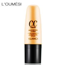 Loumesi makeup base face liquid foundation bb cream Full Coverage Face Concealer Base Matte Cushion Foundation Cosmetic tanie tanio Krem Wszystkich rodzajów skóry 30ML CHINA Bb cc kremy ivory natural