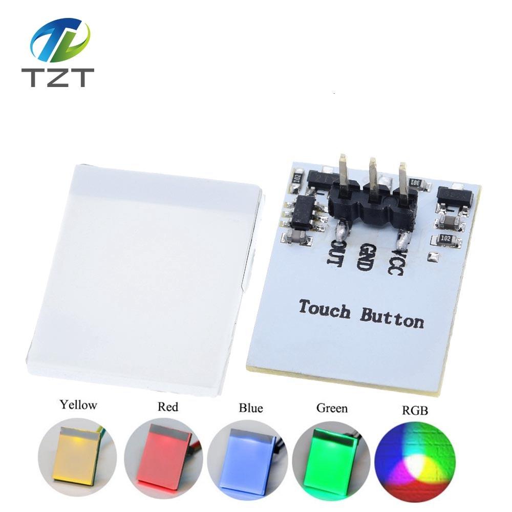 Сенсорный модуль, зеленый, синий, красный и желтый цвета, RGB, емкостная кнопка переключения, 2,7 В до 6 в, модуль против помех, сильный, серия https:/...