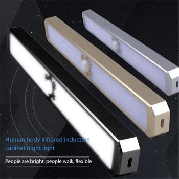 Car Headlight Bulbs Human Body Motion Infrared Induction Self-Adhesive Storage Led Wardrobe Cabinet UK Car Lights Accessories 2
