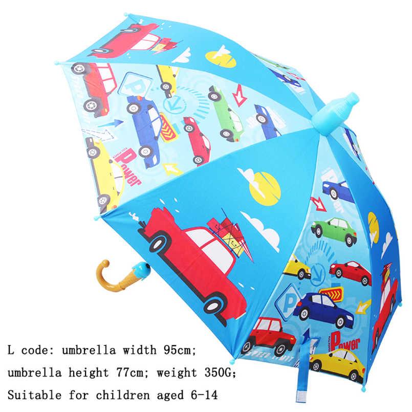 8 costelas alça longa dos desenhos animados impresso guarda-chuvas crianças chuva guarda-chuva protetor solar guarda-chuvas para menino menina ao ar livre engrenagem de chuva