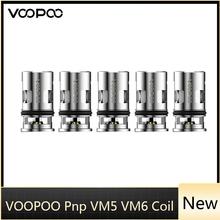 5-15 sztuk VOOPOO Pnp VM5 Mesh 0 2ohm PnP VM6 cewka z siatką 0 15ohm PnP-VM5 głowica parownik dla E Cig Voopoo ARGUS GT Drag X Drag S Vape tanie tanio VOOPOO PnP VM5 VM6 Mesh Coil Voopoo Drag X Drag S Pod Vape Kit DS Dual 5pcs pack Atomizer Coil Voopoo DRAG S DRAG X