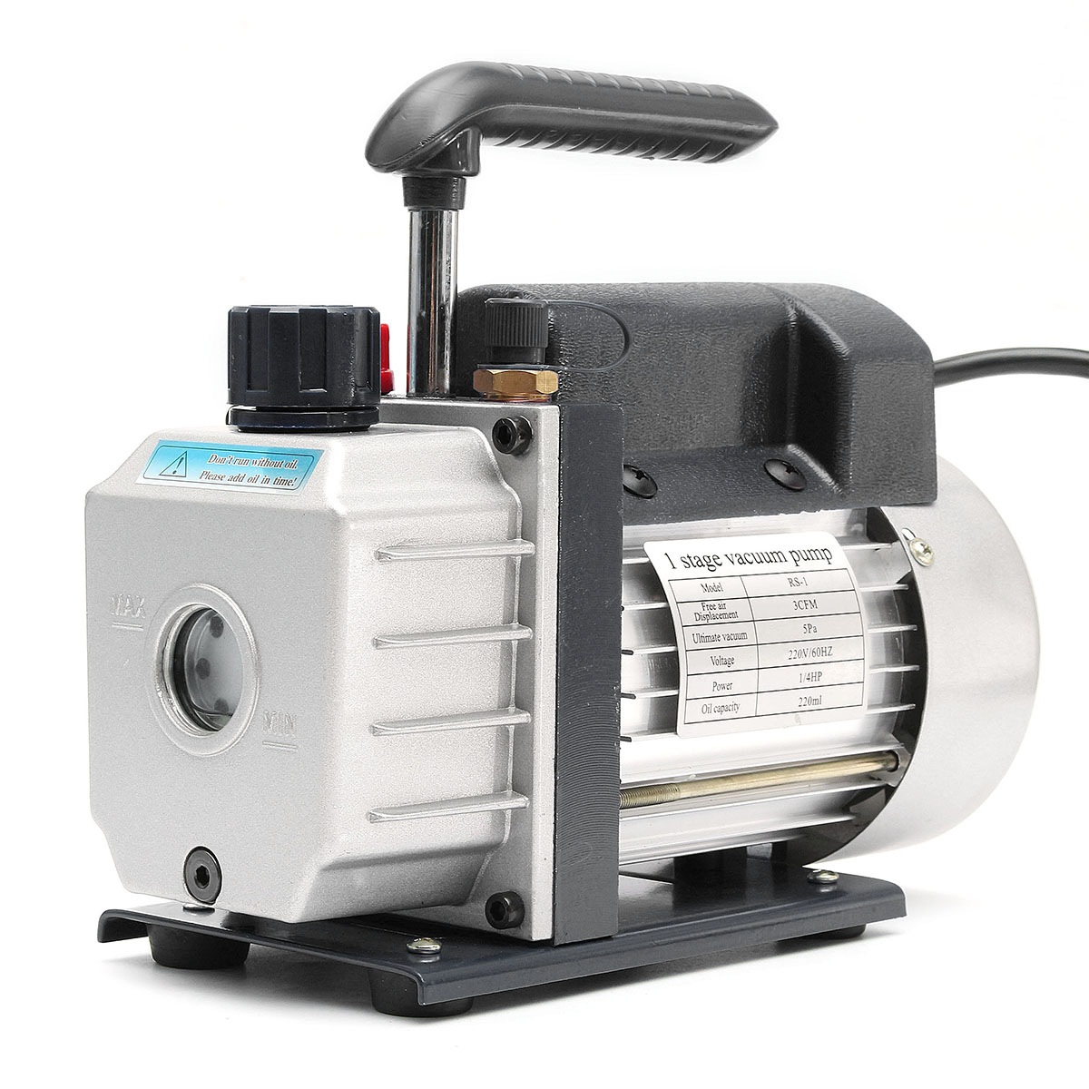 220V 180W 60HZ 3CFM Vacuum pump Air conditioni Add fluoride tool Vacuum pump set refrigerant table Refrigerant tube