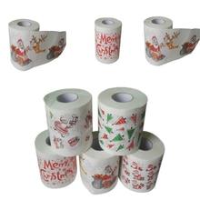 Рождественская модель серии рулонная бумага печатная забавная туалетная бумага НОВАЯ РОЖДЕСТВЕНСКАЯ креативная туалетная бумага случайный тип 4