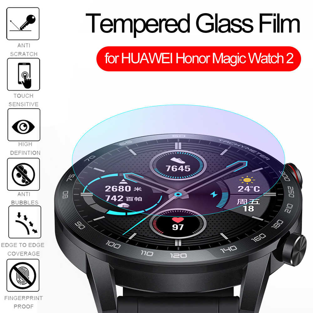Nuevo Protector de pantalla de 46mm Ultra delgado 3D borde curvado vidrio templado Protector para Honor Magic Watch 2 Accesorios inteligentes