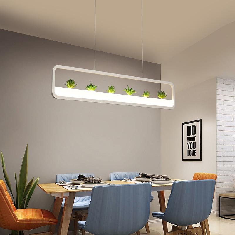 Modern Led Pendant Lights For Dining Room Kitchen Room Bar Restaurant Hanging Pendant Lamp Matte Black/White 90-260V Żyrandol