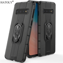 For Samsung Galaxy S10 Case Armor Finger Ring Rubber PC Hard Back Phone