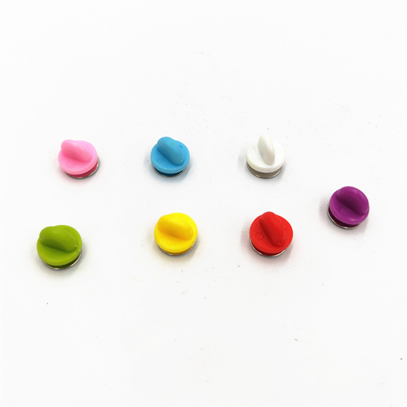 1000Pcs Comfort Fit Clutch Rubber Pin Backs Replacement Brooch Finding for Jewelry Making and Crafting Colorful Pins