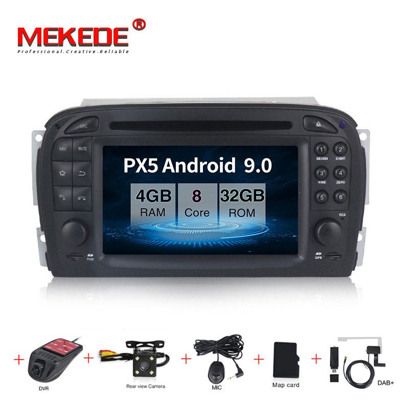 MEKEDE PX5 4+32G  Android 9.0 Car Dvd Gps Navigation Player For Mercedes Benz SL-Class SL350  Car Radio Multimedia Stereo 8 Core