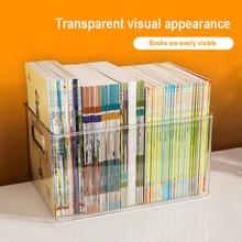 Stationery-Holder Storage-Basket Book Sundries-Organizer Desktop Plastic Clear Portable