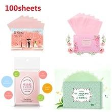 100 листов/упаковка для лица, масляные листы для лица, поглощающая пленка для контроля жирности, чистящие принадлежности для макияжа TSLM2