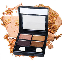4 Color Eyeshadow Palette Makeup Waterproof Long Lasting Pigment Shimmer Glitter Natural Cosmetics