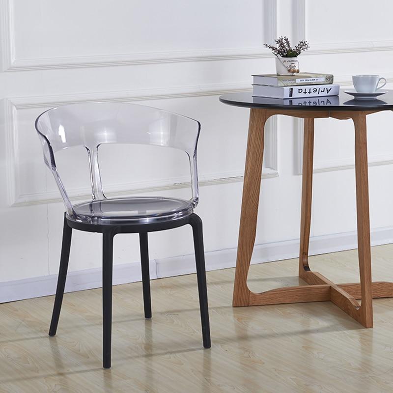 Transparent PC Plastic Dining Chair Restaurant Suitable for Dining Chair Modern Restaurant Office Home Bedroom PC Plastic Chair
