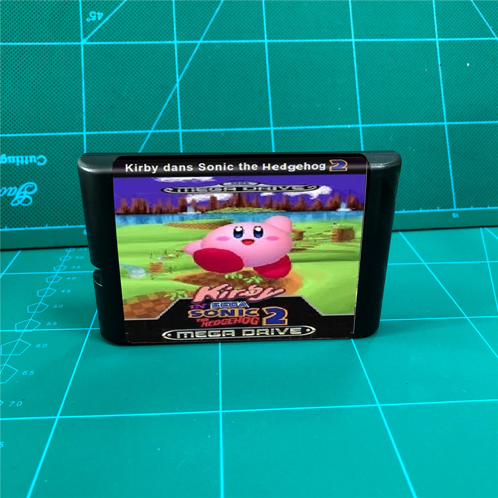 Kirby In Sonic The Hedgehog 2 16 Bit Md Games Cartridge For Megadrive Genesis Console Replacement Parts Accessories Aliexpress