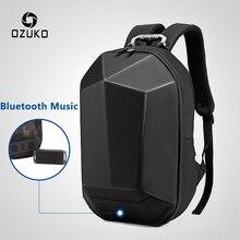 """OZUKO, мужской рюкзак 15,"""" для ноутбука, Модный водонепроницаемый рюкзак для подростков, многофункциональный мужской рюкзак для путешествий, Mochila, USB, Bluetooth, рюкзаки"""
