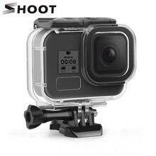 تبادل لاطلاق النار ل GoPro بطل 8 أسود مقاوم للماء حالة 60 متر تحت الماء الغوص الإسكان واقية شل غطاء جبل ل الذهاب برو 8 اكسسوارات
