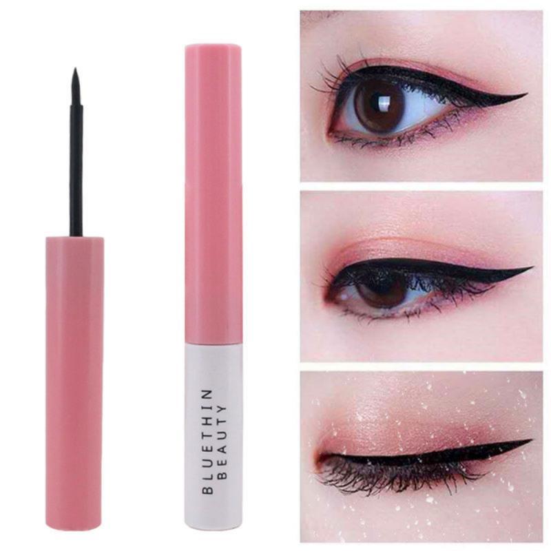 Delineador duradero muy fino, superimpermeable, de secado rápido, suave, no florece, cosmético para ojos TSLM1, 1 Uds.