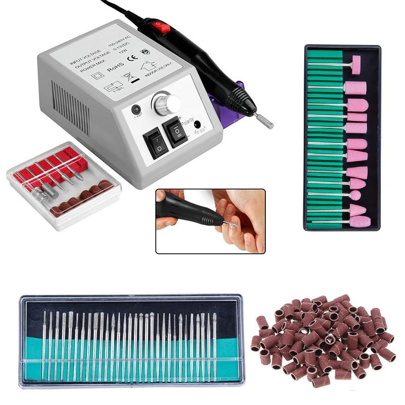 maquina de broca eletrica do prego para manicure pedicure broca moagem manicure conjunto de equipamentos do