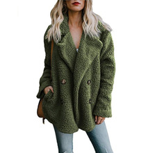 Women's Jackets Winter Coat Women Cardigans Ladies Warm Jumper Fleece Faux Fur C