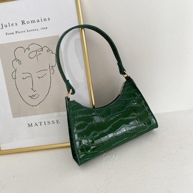 Moda requintado saco de compras retro casual feminina totes bolsas de ombro feminino couro cor sólida corrente bolsa para mulher 2020 4