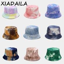 Панама хлопковая для мужчин и женщин модная шапка радужного