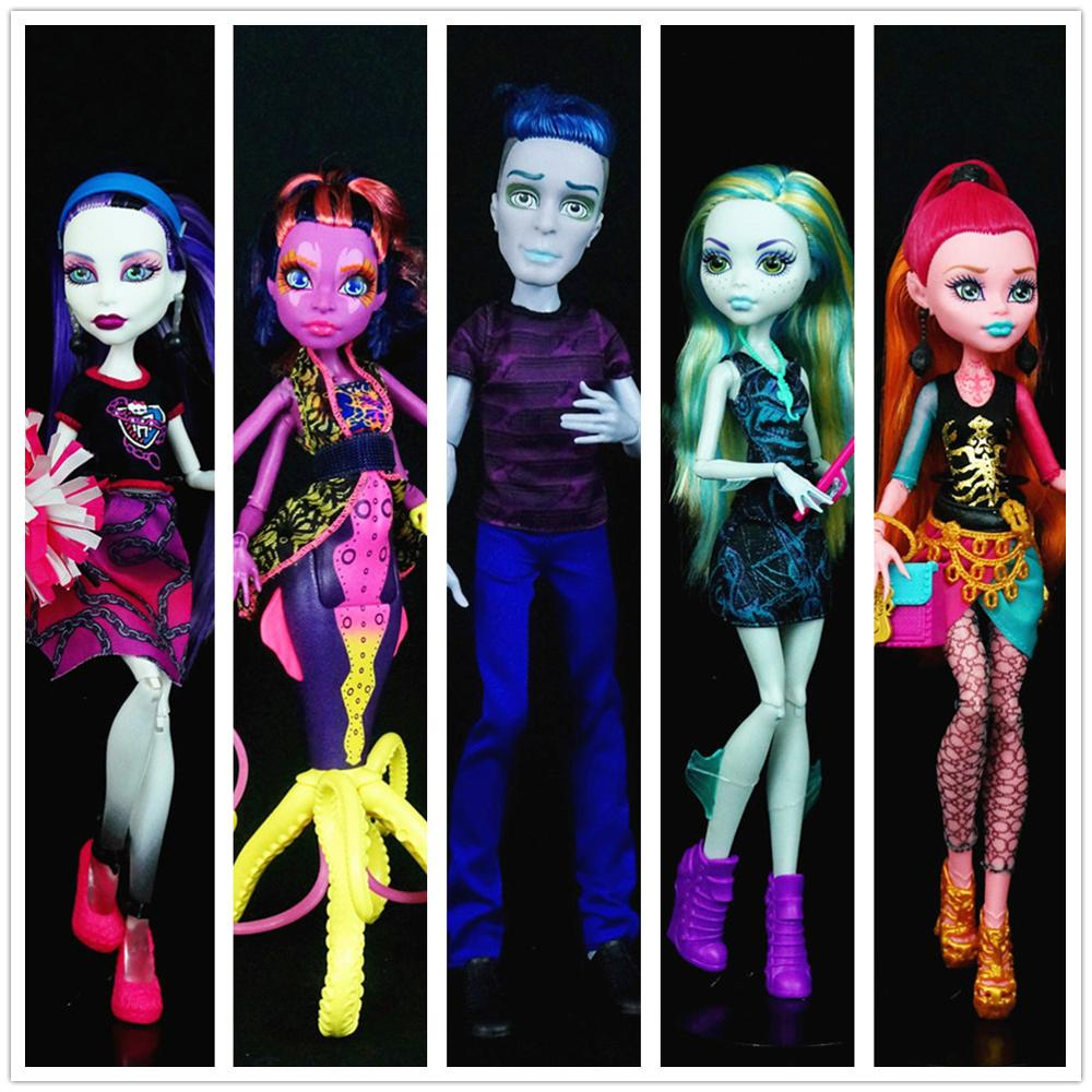 Original Doll For Monstedoll Rock Clawdeen Wolf Doll Venus Mcflytrap High Quality Doll For Figure Doll Toy Gift