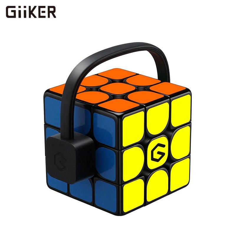 Versão atualizada original xiaomi giiker super rubik i3s intellgent cubo mágico magnético bluetooth app sincronização quebra-cabeça brinquedos cubo