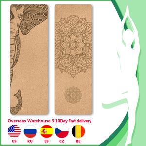 183cm Yoga mat with position line Natural Cork Fitness mat Pilates Sport Training mats Gym exercise 5mm thicken yoga accessories