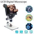 G1200 1-1200X Digital Microscope Electronic Video Microscope 7 Inch Large Colorful LCD Display 12MP Continuous Amplify Magnifier