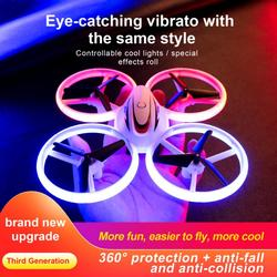 2.4GHz 4CH RC Drone Quadrocopter UAV RC Aircraft Colorful Light UFO RC Airplanes Ultra-Long Life RC Children's Funny Toys Gifts