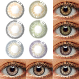2pcs/pair Color Contact Lens Cosmetics Eye Contacts With Color Lenses Gray Brown Colored Contact Lenses For Eyes Makeup Yearly