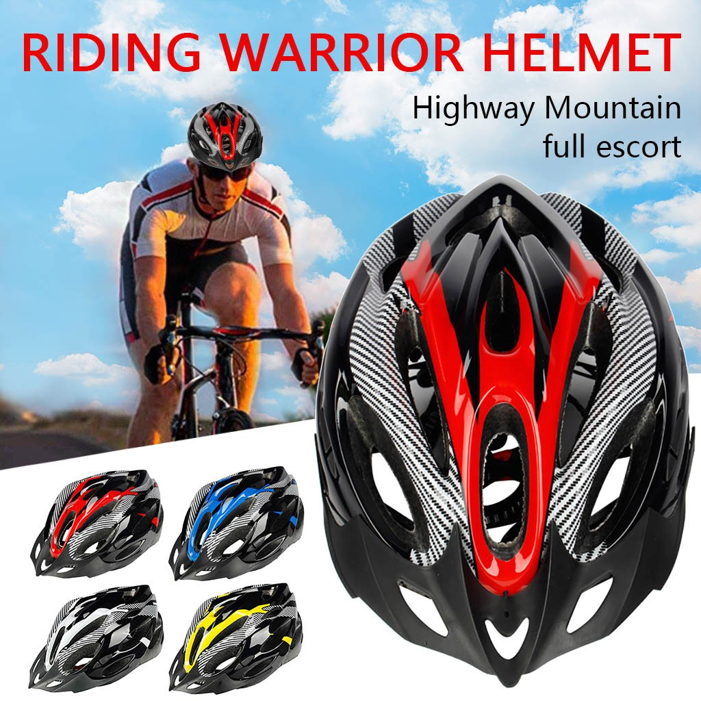 2020 Bicycle Cycling Helmet Ultralight EPS+PC Cover MTB Road Bike Helmet Integrally-mold Cycling Helmet Cycling Safely Cap 716