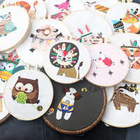 Cute Cartoon Animal Embroidery DIY Flowers Painting Full Needlework Cross Stitch Kits Embroidery Sets Diy Embroidery