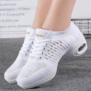 Image 1 - Womens Dance Shoes  Jazz Dancing Shoes For Woman Summer Mesh Modern Dance Shoes Ladies Female Sport Feature Dance Sneaker 34 41