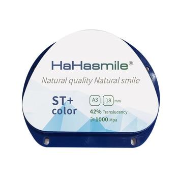 St+ Color Zirconia Block Hahasmile CAD CAM Dental Preshaded Zirconia AG A3 Vita 16 Shadesblank High 42% Translucency zirconia
