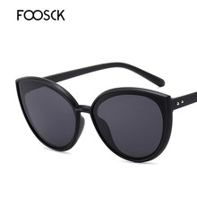 FOOSCK Luxury Brand Designers Cat Eye Sunglasses