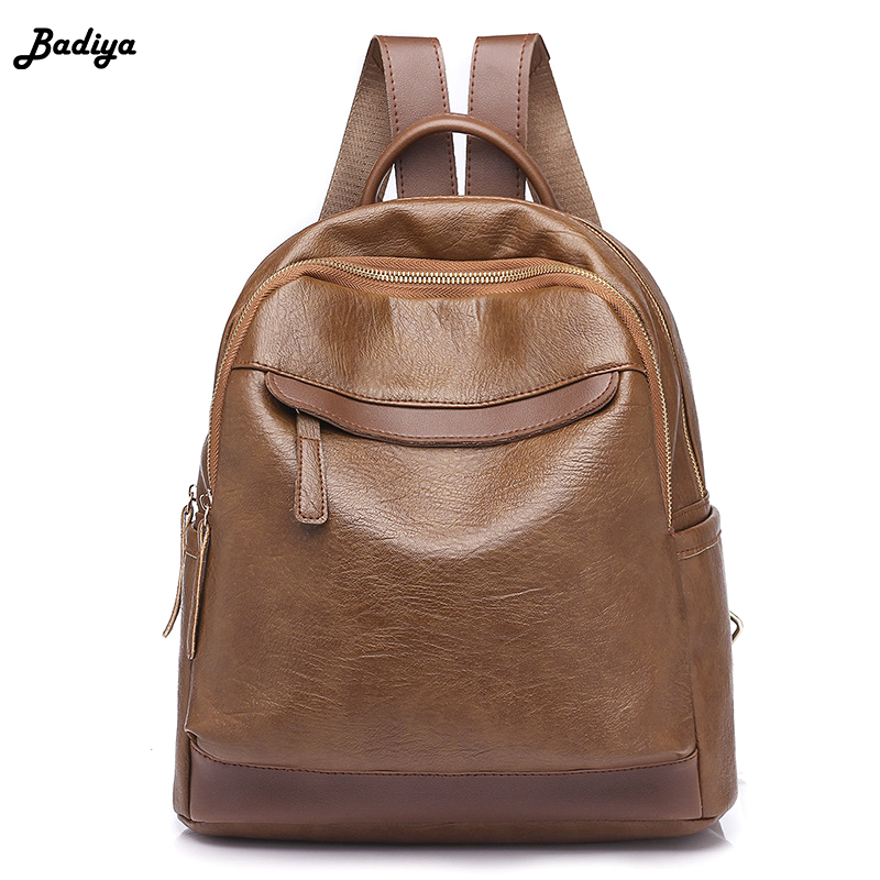 New Fashion Wild Women Backpack PU Leather Large Capacity Casual Travel Satchel Students School Bag College Style Lady Knapsack