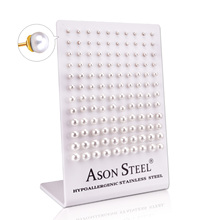 Small Stud Earrings-Set Stainless-Steel Screw-Plug Women Jewelry Pearl LUXUKISSKIDS 60pair/Lot