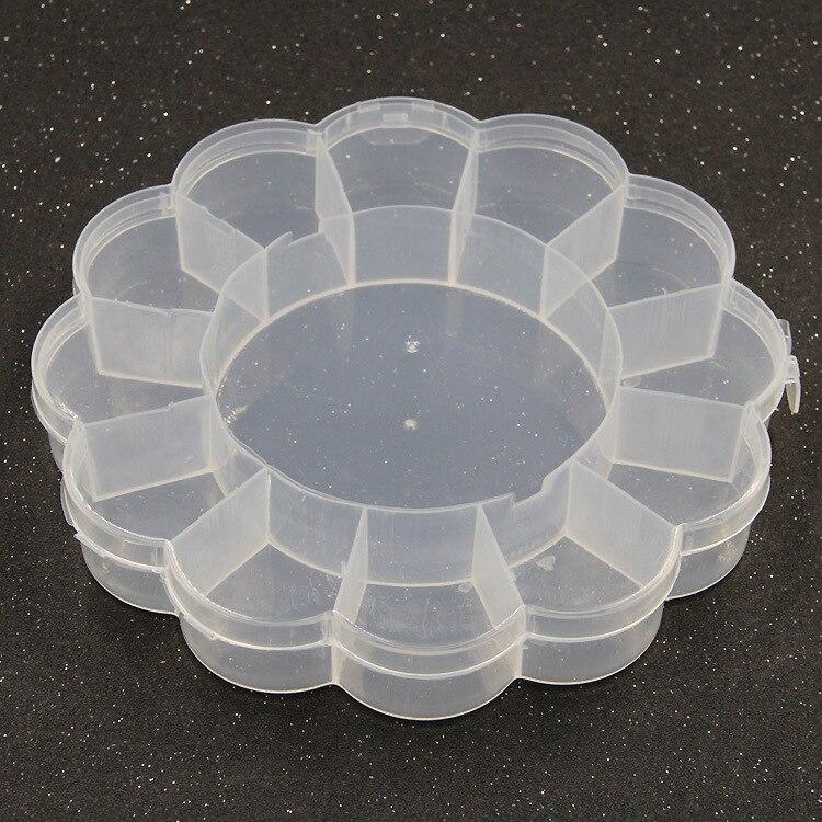 Plum-Shaped Transparent Plastic Box DIY Jewlery Box Fishing Tackle Box Storage Box Pill Box