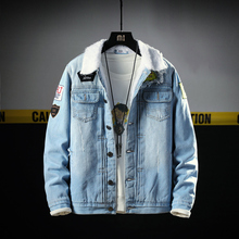 Winter Fashion Men Jacket High Quality Patches Designer Thick Warm Parka Men Casual Velvet Coats Hip Hop Bomber Jackets Hombre