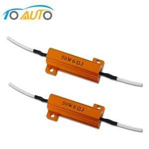 2 sztuk LED Canbus BA15S BAU15S BAY15D dekoder 50w 6ohm rezystor obciążenia anti-miga kasowanie błędów Adapter do sygnału światła 12V