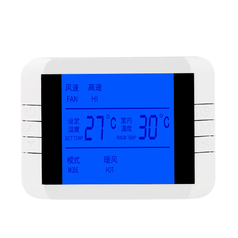 Air-Conditioning LCD Screen Thermostat Fan Thermoregulator Temperature Intelligent Control Thermometer Switch Panel