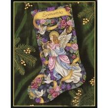 ชุดชุดปักครอสติส Tidings ถุงน่อง Fairy Heavenly ถุงน่องคริสต์มาส DIM 8564