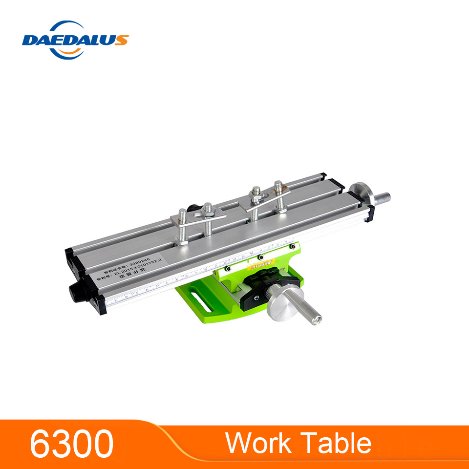 Multifunction Bench Drill Vise Manual 6330 Work Table Drilling Milling Machine X Y-axis Adjustable Coordinate Fixture Power Tool
