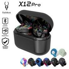 Sabbat X12 Pro Tws bezprzewodowe słuchawki douszne Bluetooth 5.0 słuchawka hi-fi zestaw słuchawkowy Stereo Sport wodoodporne bezprzewodowe słuchawki
