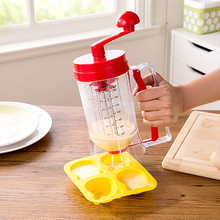 Cream Separator Egg Liquid Pancakes Dispenser Cookie Muffins Baking Batter Dispenser Measuring Cup Kitchen Cooking Accessories baking tool cake dough batter cream dispenser cupcake funnel batter separator valve measuring cup muffin cups optional cake mold