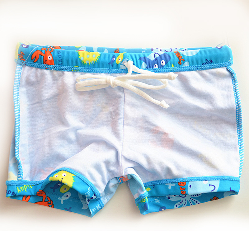 CHILDREN'S Swimming Trunks Cute Boy Students Infants Small Children Swimming Hot Springs Cartoon Blue Fish AussieBum
