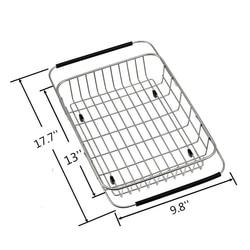 Afdruiprek Over Sink  Verstelbare Armen Houder Gebruiksvoorwerp Afdruiprek Functionele Drogen Organizer voor Groente en Fruit  Keuken organi Rekken & Houders Huis & Tuin -