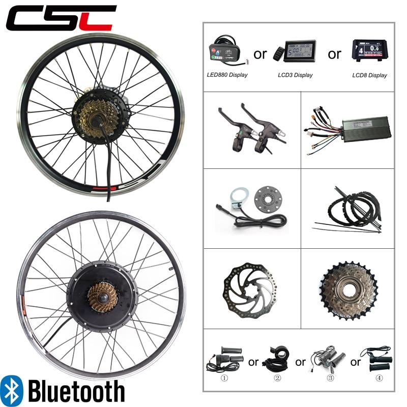 Электрический Велосипед Комплект 36 В 250 Вт 350 Вт 500 Вт 48 В 1000 Вт 1500 Вт EBike Kit Колесо Концентратор Мотор Велосипед Комплект для преобразования дл...