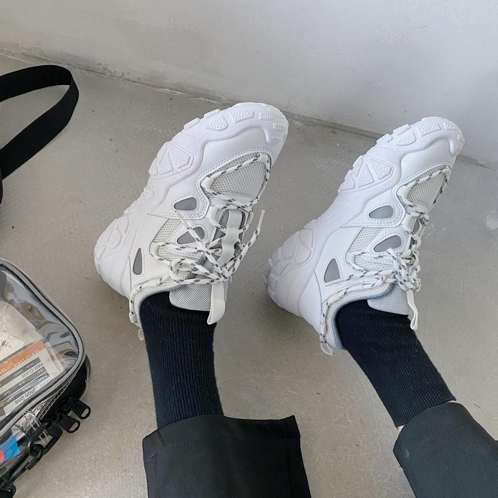 2020 summer new fashion wild sports casual shoes old shoes women thick bottom increased breathable mesh shoes X099
